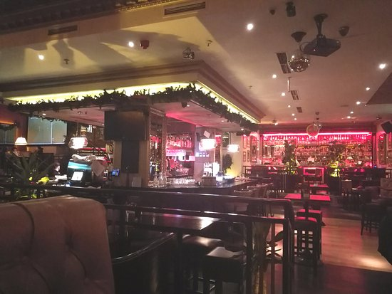 Harrys on the Green: The main room, with the two bars