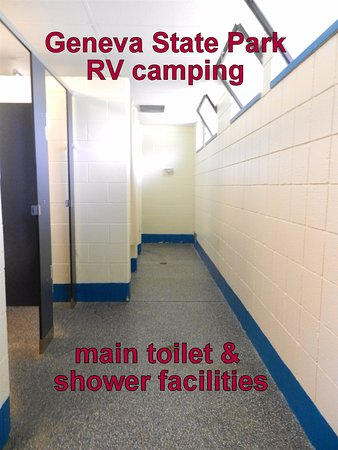 Geneva State Park Campground - main toilets and shower block