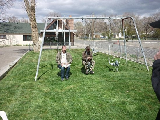 Winnemucca, NV: Swings sets become lunch rooms while filming