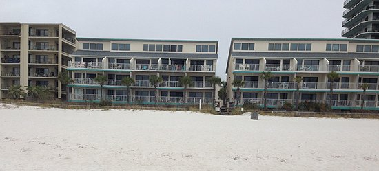 Nautical Watch Gulf Side Villas: From the beach there are 2-3 more buildings that don't face the beach