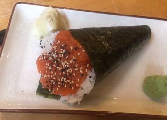 Spicy Tuna Cone,  Qualicum Sushi, 133 W. 2nd Ave., Qualicum Beach, British Columbia