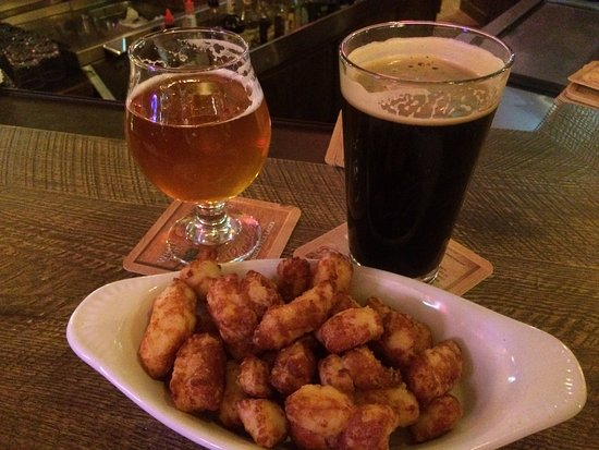 Chippewa Falls, WI: Great Combo of Beer and Cheese Curds