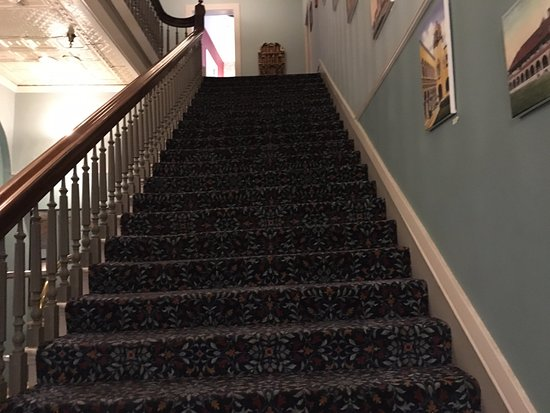 Las Vegas, NM: Staircase as seen in No Country for Old Men. Other movies/TV programs were filmed at the Plaza.