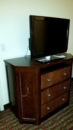 Englewood, CO: Damaged furniture. Kitchenette and dishes filthy