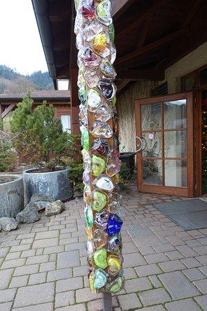 Wolfach, Tyskland: Glas am Pfosten