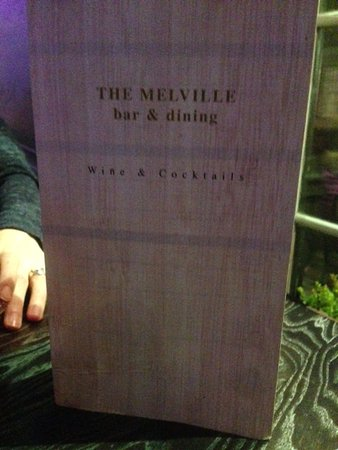 The Melville Bar: Menu