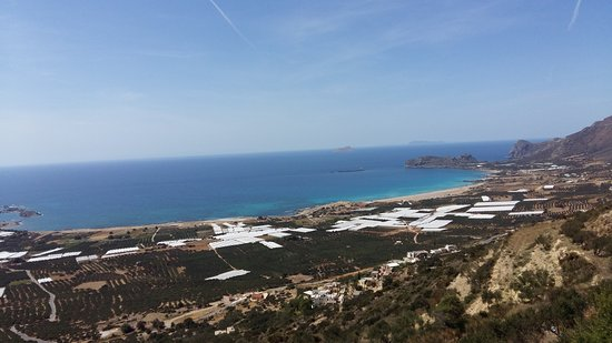 Falassarna, Greece: beach from above