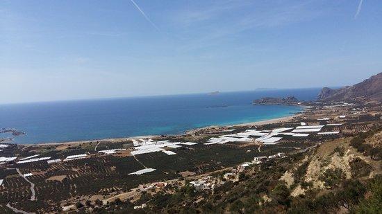 Falassarna, Grecia: beach from above