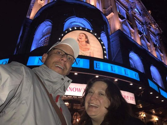 Mamma Mia: In front of the Theater.
