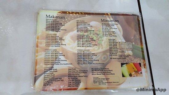 menu tanpa harga バンドン mie naripanの写真 トリップアドバイザー