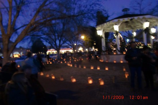ol town square christmas eve luminaries picture of albuquerque old