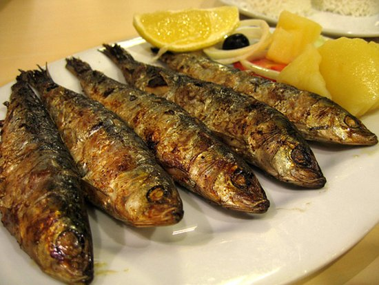 Deal, UK: Grilled Garlic and Lemon Sardines
