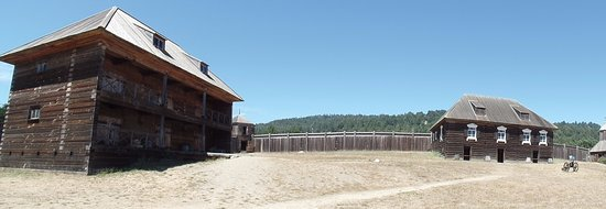 Jenner, CA: wooden buildings