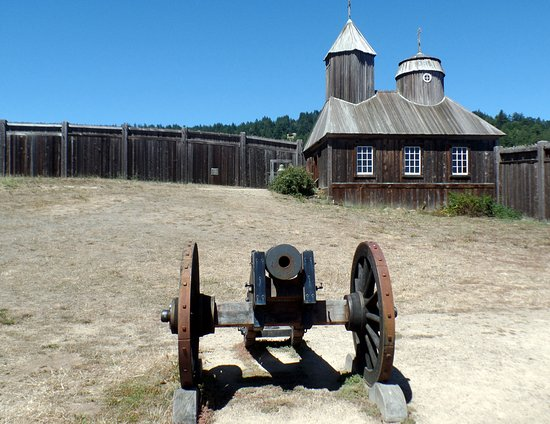Jenner, CA: church and fortification