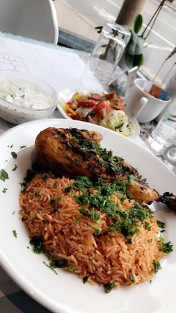 ‪أبجد هوّز: Chicken kabsa dish‬