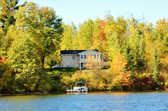Bigfork, MN: Private Lake Home - sits down the lake shore from the resort.