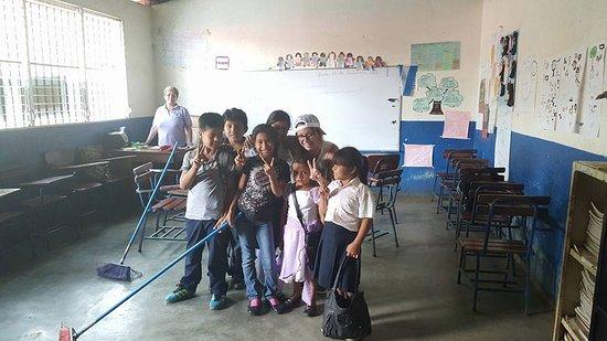 San Jose Metro, Costa Rica: School near Mombacho Volcano