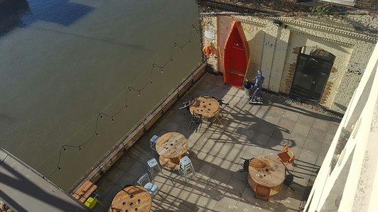 Barking, UK: Our riverside terrace