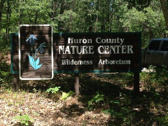 Port Austin, MI: Huron County Nature Center Enterance