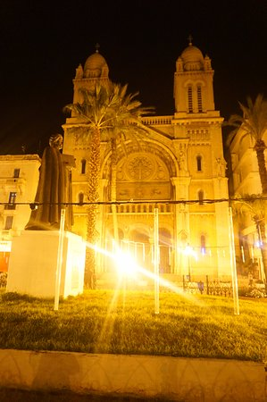 Cathedral of St. Vincent de Paul : Cathedral at night.