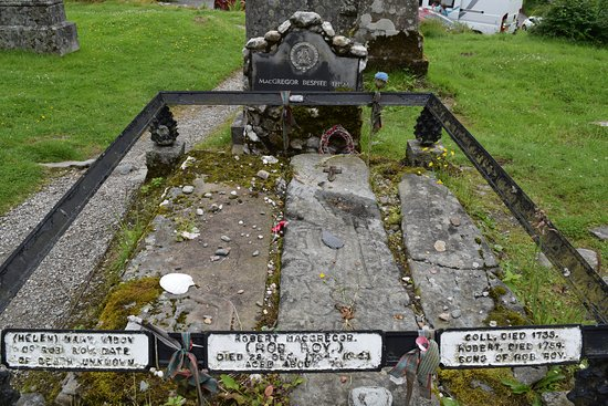 Strathyre, UK: Rob Roy grave 3 mile walk from Hotel