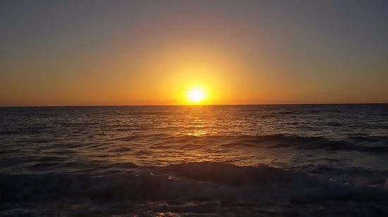 Paphos District, Cyprus: Sonnenuntergang am Lara Beach