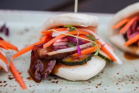 Los Gatos, CA: Asian Barbeque Pork Sliders. Photo courtesy of Jimmy Cohrssen