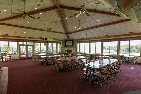 Waterloo, IL: This is a view inside our clubhouse. The tables are arranged to fit any events we may have.