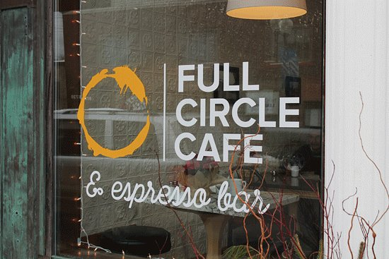 Downtown Stevensville restaurant/cafe...rather retro interior.
