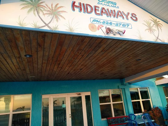 Hideaways at Palm Bay : This signage gives you a good feel for the folksy level of the hotel