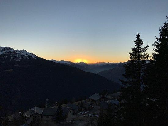 Le Tyrol: Coucher de soleil