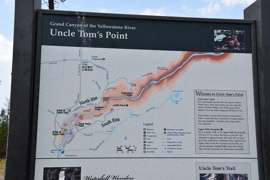Uncle Tom's Trail : Schild
