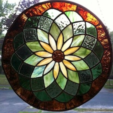 Create this during a 6 week stained glass session