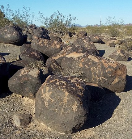 Gila Bend, Αριζόνα: Some of the petroglyphs you'll see here.