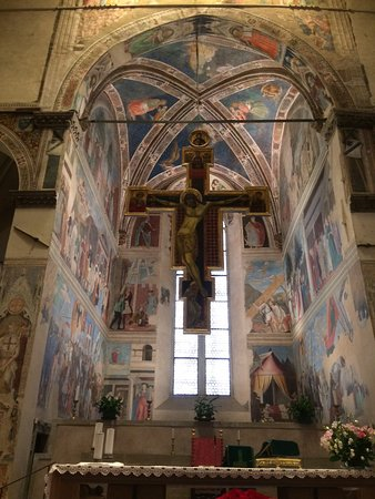 Arezzo, Italien: The Bacci Chapel with the Legend of the True Cross frescos.