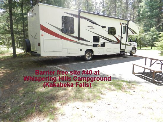 Kakabeka Falls, Canada : Barrier free site #40 - Whispering Hills Campground
