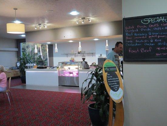 Woolgoolga, Australia: Bistro serving area.