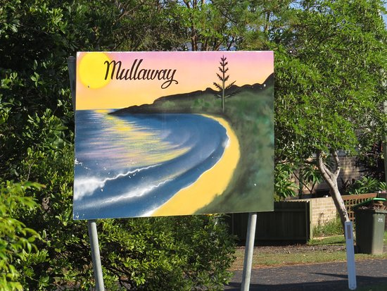 Mullaway, Australia: Sign at the front indicating you are here.