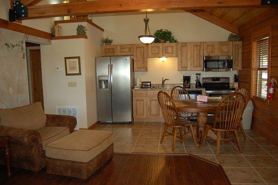 Horseshoe Bend, AR: Kitchen Area 1 bdr cabin unit