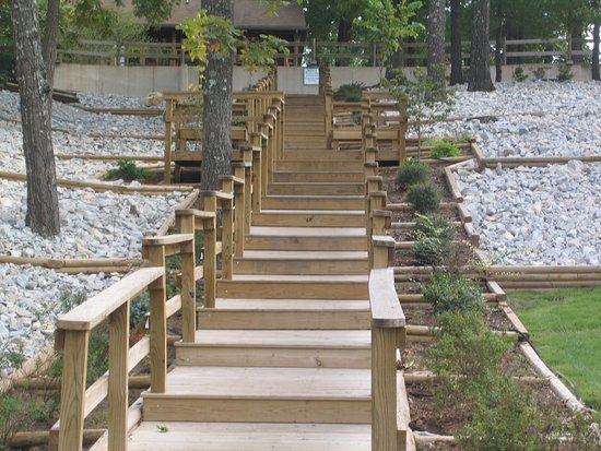 Horseshoe Bend, AR: stairs to beach
