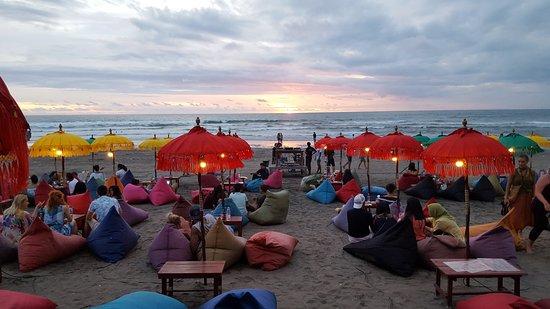 Outstanding Beach Bean Bags Picture Of Taris Bali Bar And Restaurant Machost Co Dining Chair Design Ideas Machostcouk