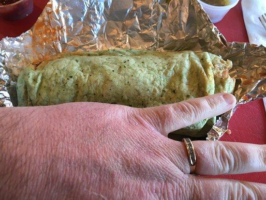 Blue Coast Burrito : HUGE portion sizes.