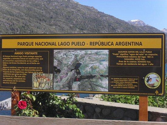 Lago Puelo, อาร์เจนตินา: Cartel del parque Nacional