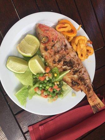 Imbassai, BA: Very nice vermelho fish served in the beach restaurant.