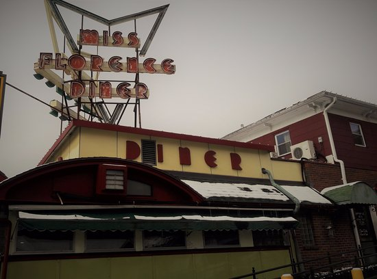 Miss Florence Diner: Great Old School Sign