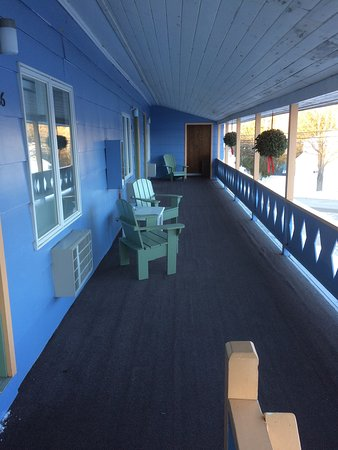 Bethel, ME: The deck and the neighborhood