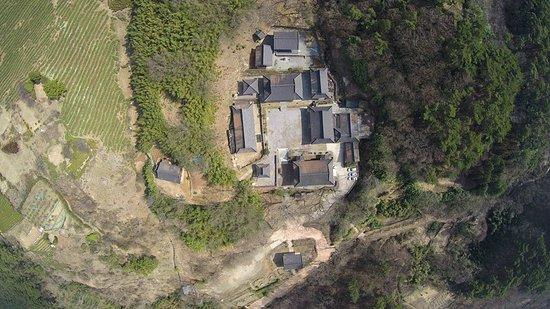 Gwangju, South Korea: 무등산 증심사 항공 사진
