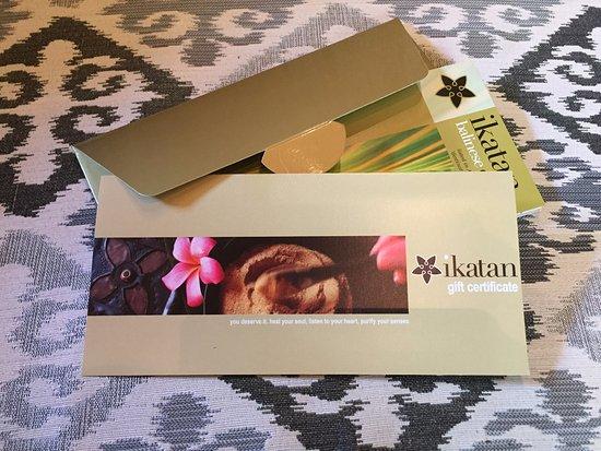 Ikatan Balinese Spa & Gardens : ikatan Spa Gift Vochers
