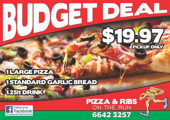 Grafton, Australien: Pizza and Ribs meal deal