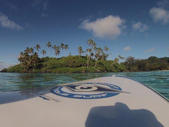 KiteSup Cook Islands: Morning SUPing